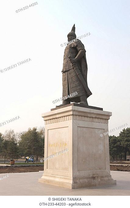Monument of Huang Taiji, North Tomb Beiling, Zhaoling, Imperial tomb of Huang Taiji 2nd Emperor of Qing Dynasty, Shenyang, Liaoning Province, China