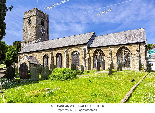 15th Century Parish Church of Saint Petroc Padstow, Cornwall, England, United Kingdom, Europe