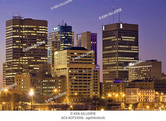 Skyline of downtown Winnipeg, Manitoba, Canada