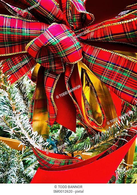 Christmas ribbon and bow