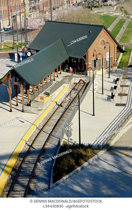 Tourist Train Station on Cumberland River Nashville Tennessee. USA