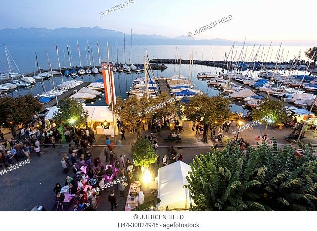 Lutry Wine Festival, Lavaux region, Lake Geneva, Swiss Alps, Switzerland
