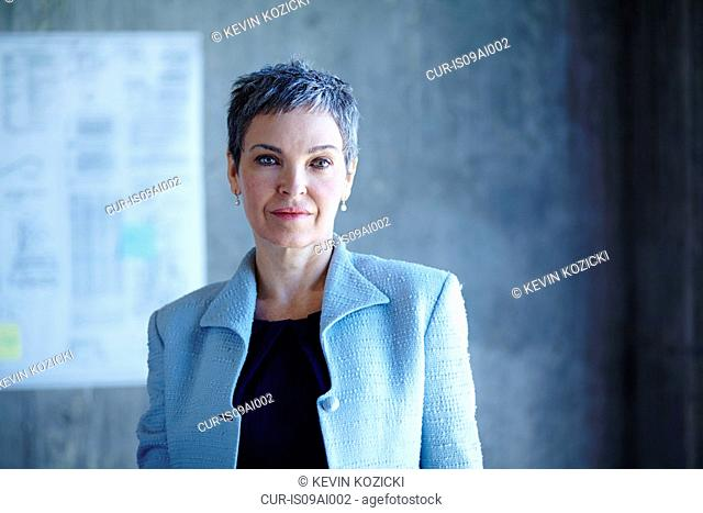 Portrait of determined mature businesswoman