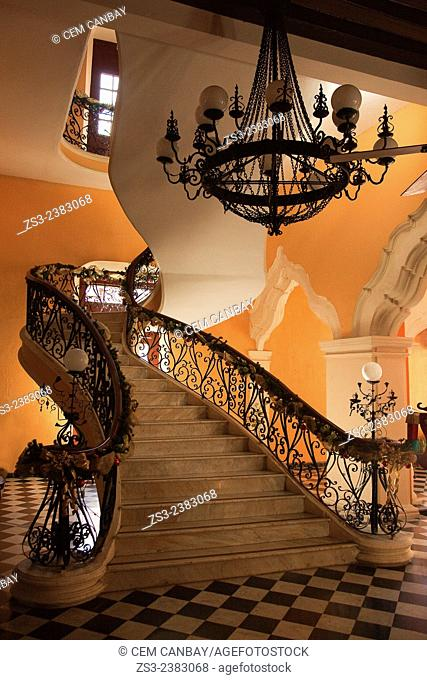Interior of Mansion Carvajal in historic center, Campeche, Yucatan Province, Mexico, Central America