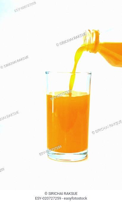 Glass with orange juice