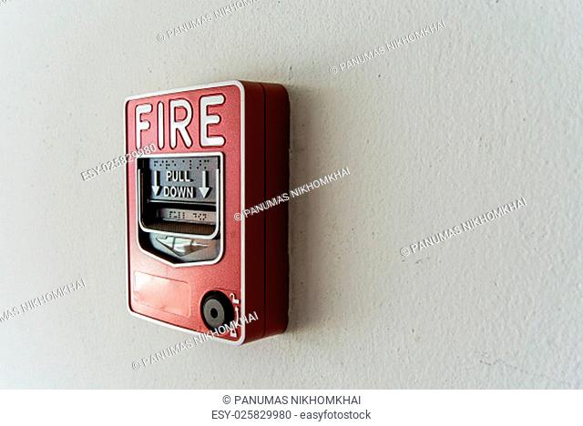 An Fire Alarm near door fire