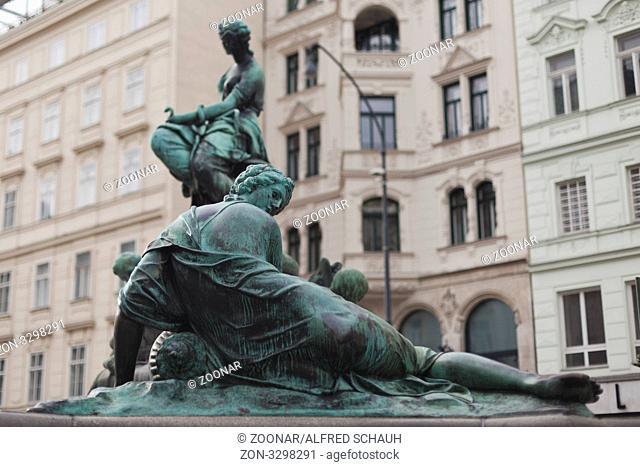 Donnerbrunnen Providentiabrunnen, Neuer Markt, Innere Stadt, Wien, Österreich, Europa / Donnerbrunnen Providentiabrunnen, Neuer Markt, ancient city, Vienna