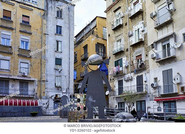 Naples Campania Italy. Montecalvario at Quartieri Spagnoli(Spanish Quarters), a part of the city ofNaplesinItaly