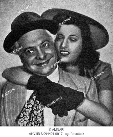 Aldo Fabrizi (1905-1990) and Anna Magnani (1908-1973) in the film L'ultima carrozzellaby Mario Mattioli, photography taken from the magazine L'Illustrazione...
