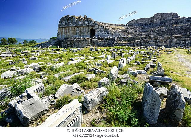 Miletus Amphitheater. Ancient Greece. Asia Minor. Turkey