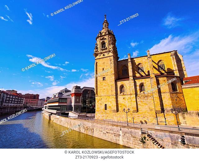 Iglesia de San Anton - Church of San Anton in Bilbao, Biscay, Basque Country, Spain