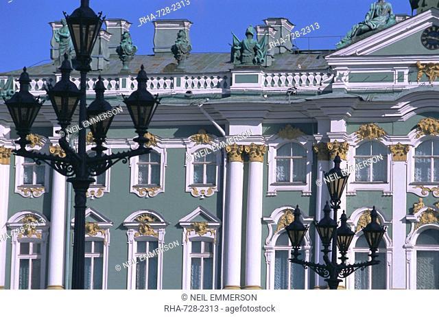 Hermitage Museum Winter Palace, UNESCO World Heritage Site, St. Petersburg, Russia, Europe