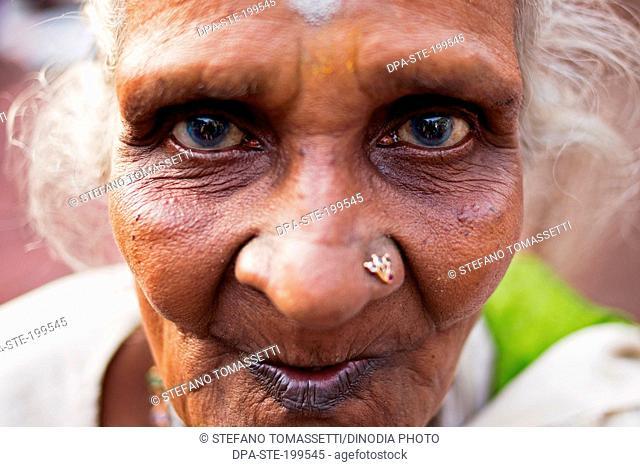 old woman portrait, batu caves, kuala, lumpur, malaysia