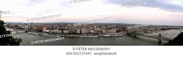 Panoramic view of Budapest city