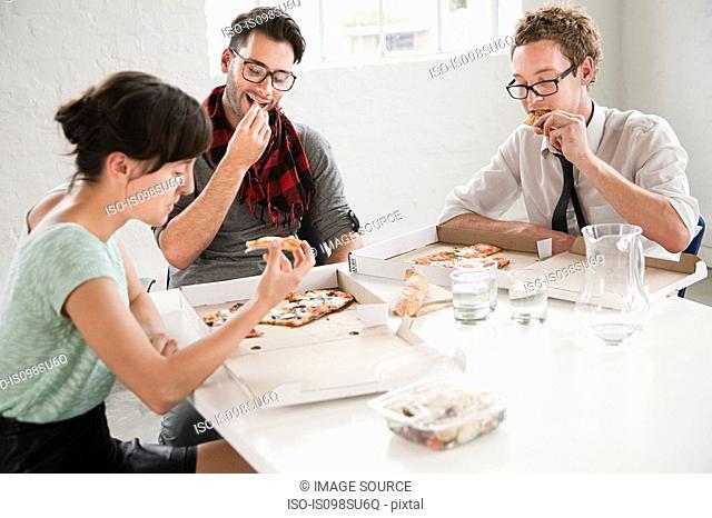 Fashion designers on lunchbreak