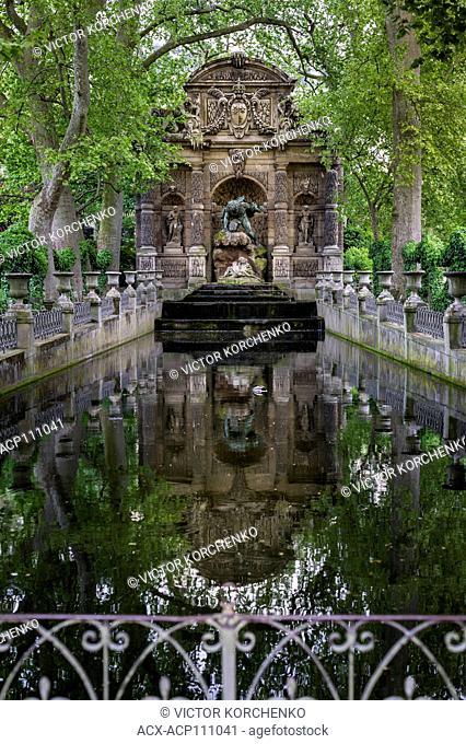 The Medici Fountain (fr La fontaine Médicis), a monumental fountain in the Jardin du Luxembourg in the 6th arrondissement in Paris