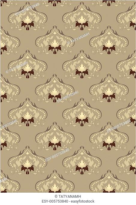 Light brown background with oriental ornaments