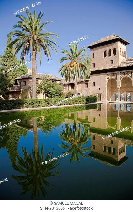 Alhambra – The Partal. Alhambra palace and fortress served the Moorish monarchs of Granada in the 13th and 14th centuries