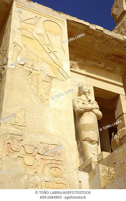 Hatshepsut Temple. West Bank. Luxor old Thebas. Upper Egypt
