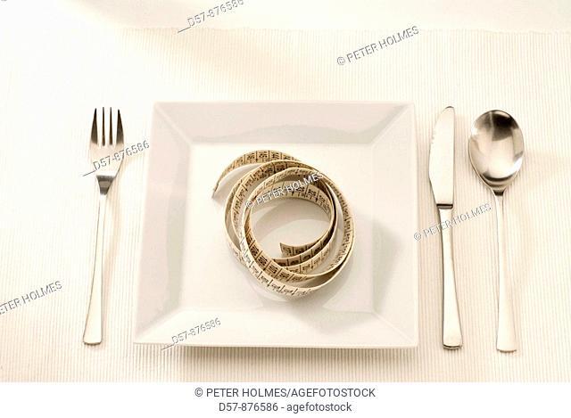 Table set  Dish  Tape measure