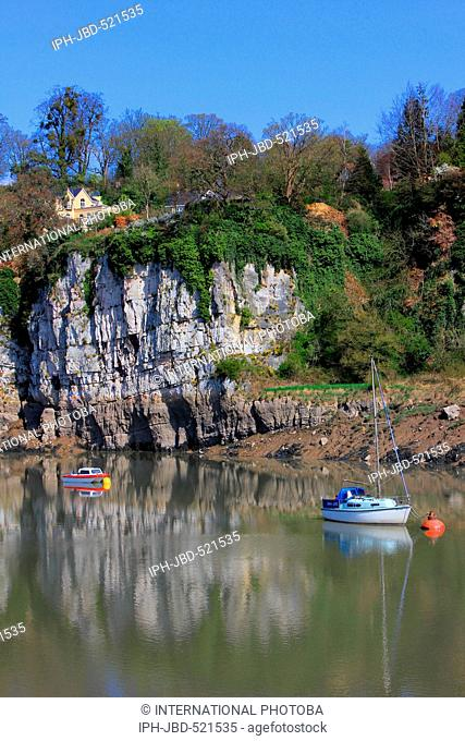 Wales Monmouthshire Chepstow The River Wye Jeanetta Baker