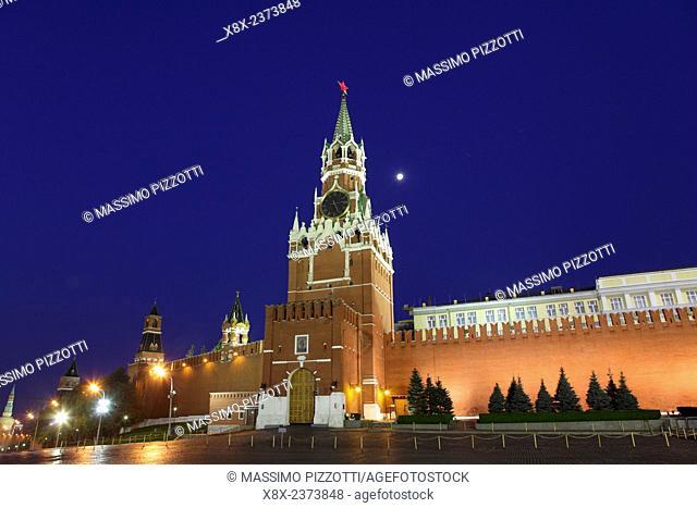 Spasskaya tower at Kremlin, Moscow, Russia