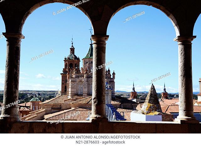 The Cathedral of Santa María de Mediavilla from the Museo Provincial de Teruel. Teruel, Aragón, Spain, Europe
