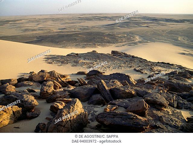 Rocky landscape, Nubian Desert, Sudan