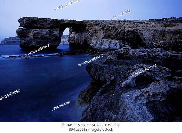 Azure Window or Blue window in Dwejra, Gozo island, Malta