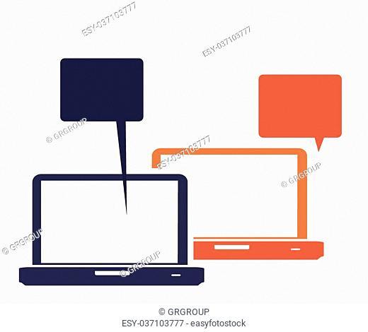 Shopping online design over white background, vector illustration
