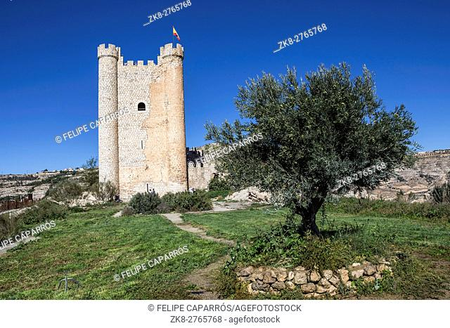 Castle of Almohad origin of the century XII, take in Alcala of the Jucar, Albacete province, Spain