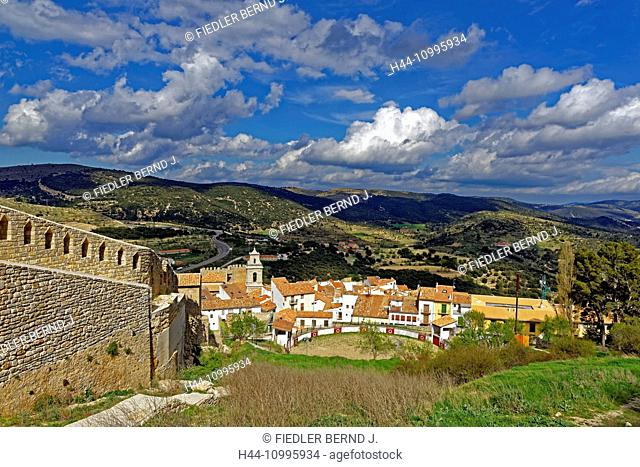 Fortress mountain, local view, fortress wall, bullfight arena