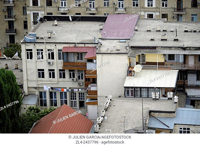 Azerbaijan, Baku, buildings in the city centre
