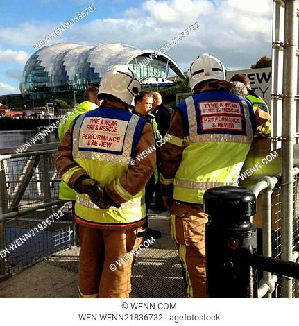 Police Search River Tyne after man falls from Bridge Featuring: Fire and Rescue Where: Newcastle, United Kingdom When: 17 Oct 2014 Credit: WENN.com