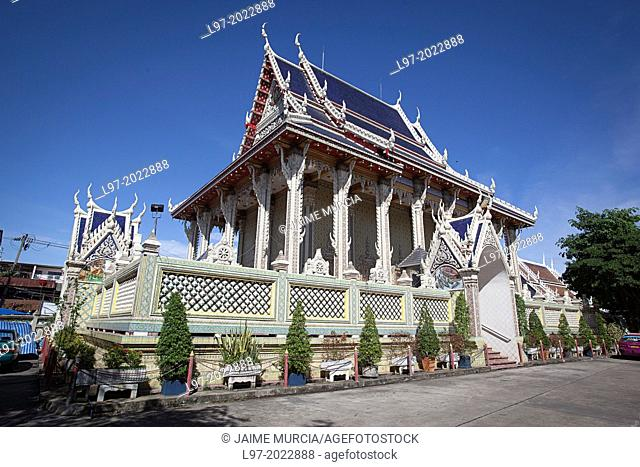 Bhuddist temple over 250 years old from the Ayutthaya period, in the Wat Sai area of Bangkok Bangkok Thailand
