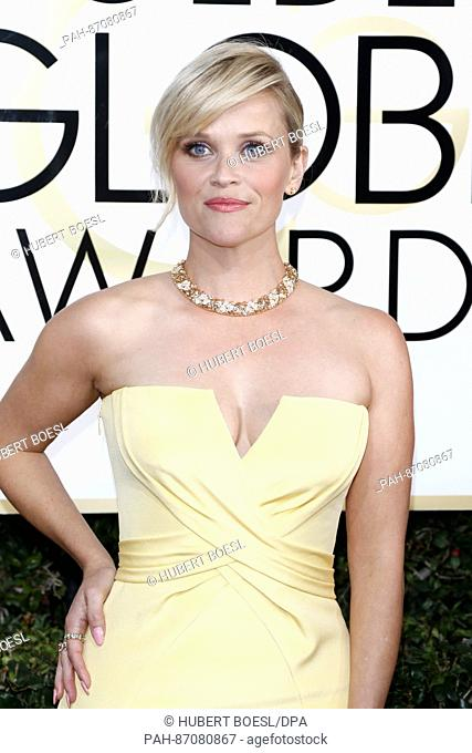 Reese Witherspoon arrives at the 74th Annual Golden Globe Awards, Golden Globes, in Beverly Hills, Los Angeles, USA, on 08 January 2017