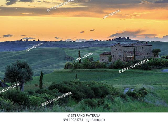 The landscape of Val d'Orcia, Tuscany, Italy