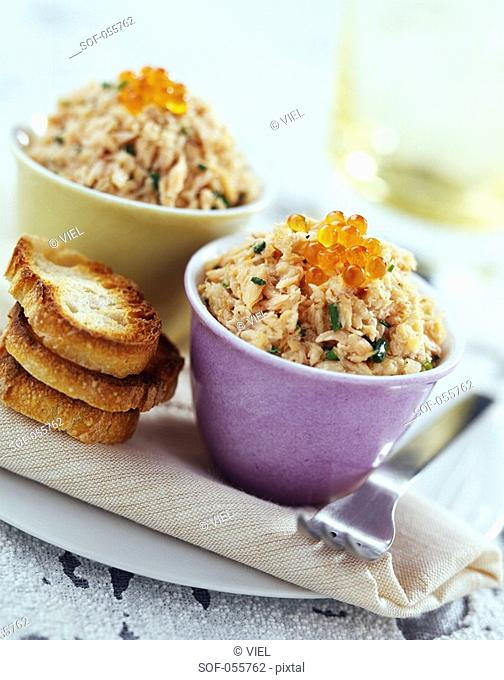 peppered trout potted meat with chives