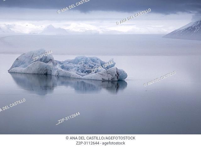 Jokulsarlon glacier lagoon lake in winter. Iceland