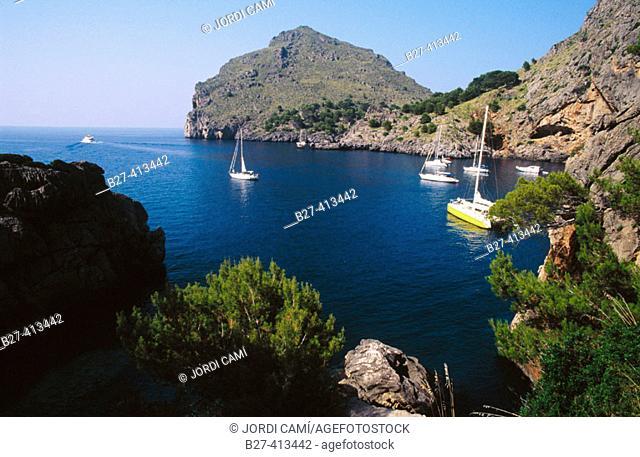 Sa Calobra cove. Majorca, Balearic Islands. Spain