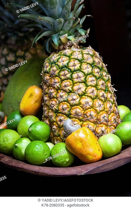 Lime, cashew and pineapples, Fortaleza, Brazil