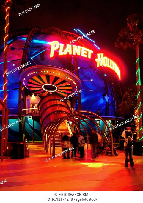 Orlando, FL, Florida, Lake Buena Vista, Walt Disney World, Downtown Disney Westside, Planet Hollywood, evening