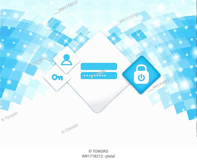 An abstract template with a login form