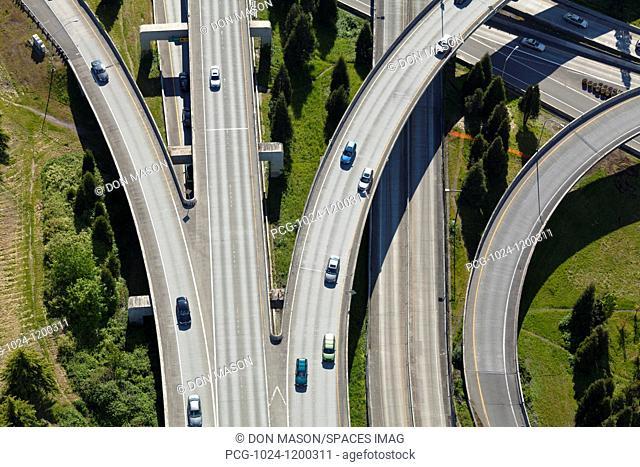 Busy Freeway Interchange