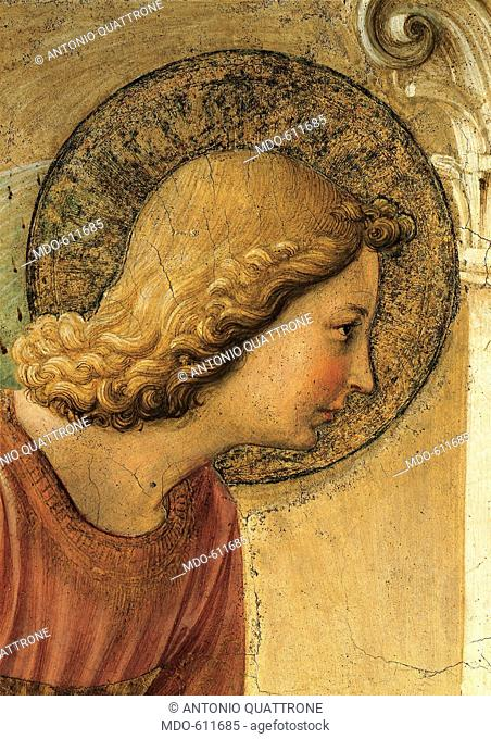 Annunciation, by Guido di Pietro (Piero) known as Beato Angelico, 1438 - 1446, 15th Century, fresco. Italy, Tuscany, Florence, San Marco Convent