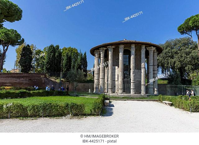 Forum Boarium, Temple of Hercules Victor, Rome, Italy