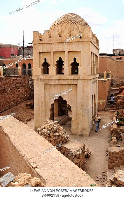 Dome of the Qubba Almoravide, Marabout, from the Almoravid Dynasty about 1100 A.D., Marrakesh, Morocco, Africa
