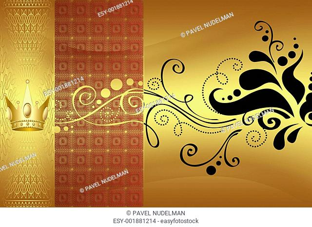 beautiful golden background with gold elements