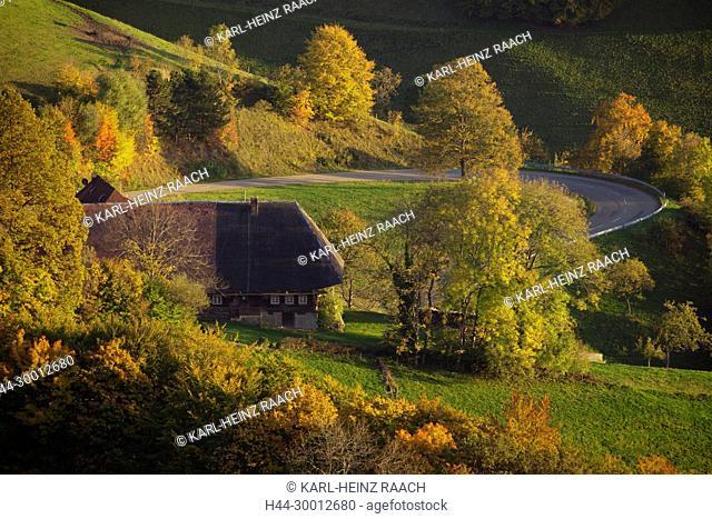 Bauernhof am Geiersnest bei St. Ulrich, Schwarzwald, Baden-Württemberg, Deutschland