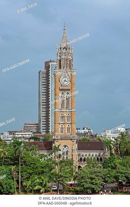 rajabai tower and stock exchange, Mumbai, Maharashtra, India, Asia